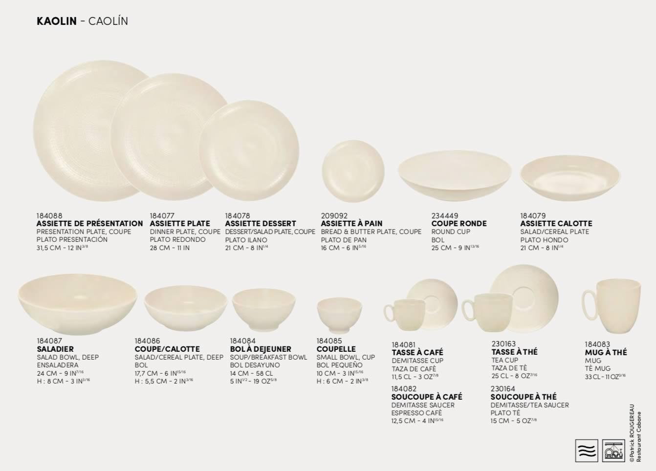 Kaolin DEGRENNE Modulo Nature Assiette de pr/ésentation plate 31,5 cm